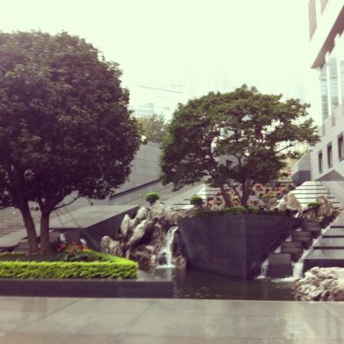 Fountains around Chater Garden