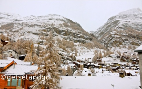 Snow covered Zermatt, Switzerland