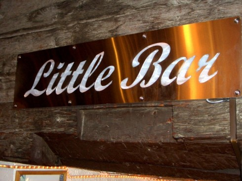 The signage of Little Bar