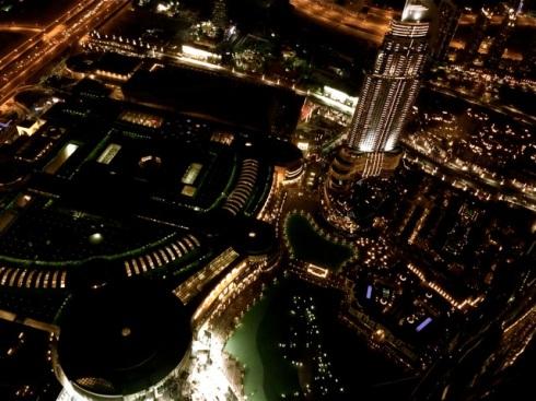 Dubai Mall and the Fountains, from Burj Khalifa, Dubai